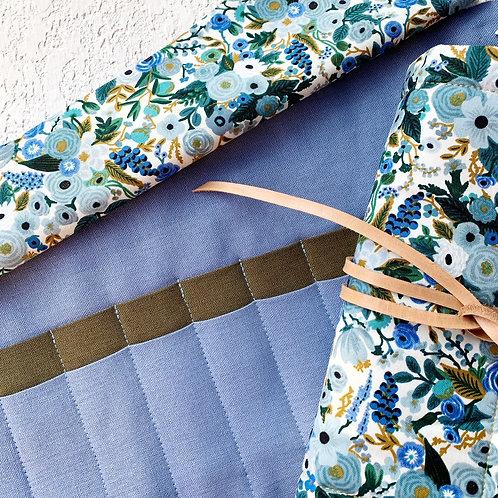 24 Crochet Garden Blue Lino - jacinto/olivo