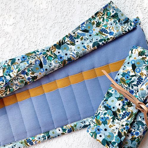 24 Crochet Garden Blue Lino - jacinto/mostaza