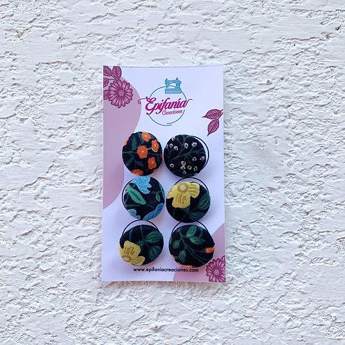 Botones Forrados en Tela - Espinos Black