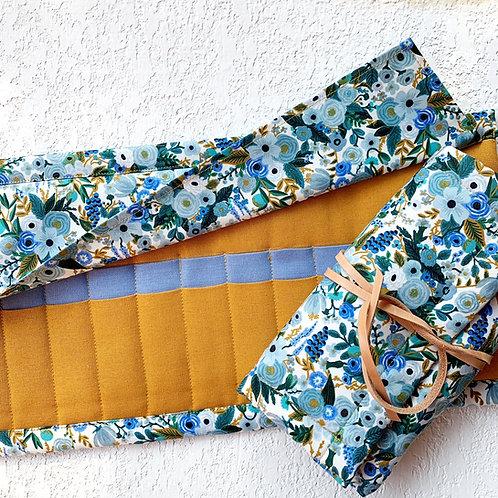 24 Crochet Garden Blue Lino -mostaza/jacinto