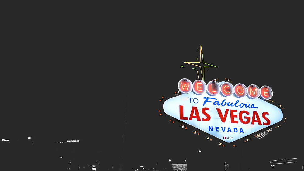 Sign of Welcome to Fabulous Las Vegas Nevada