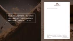 Holzbau Briefbogen Design