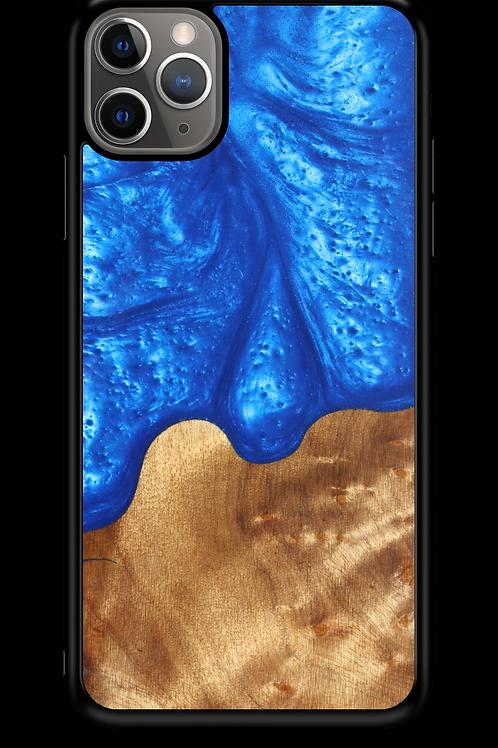 Slim Resin & Wood Phone Case | Diver's Blue