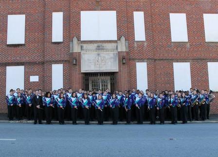 Cox Mill Symphonic Band at Lenoir Band Building 2013.