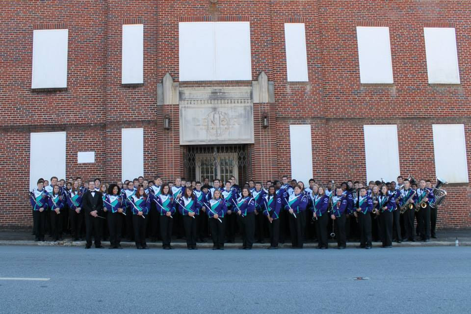 Cox Mill Symphonic Band at Lenoir Band Building 2013.j