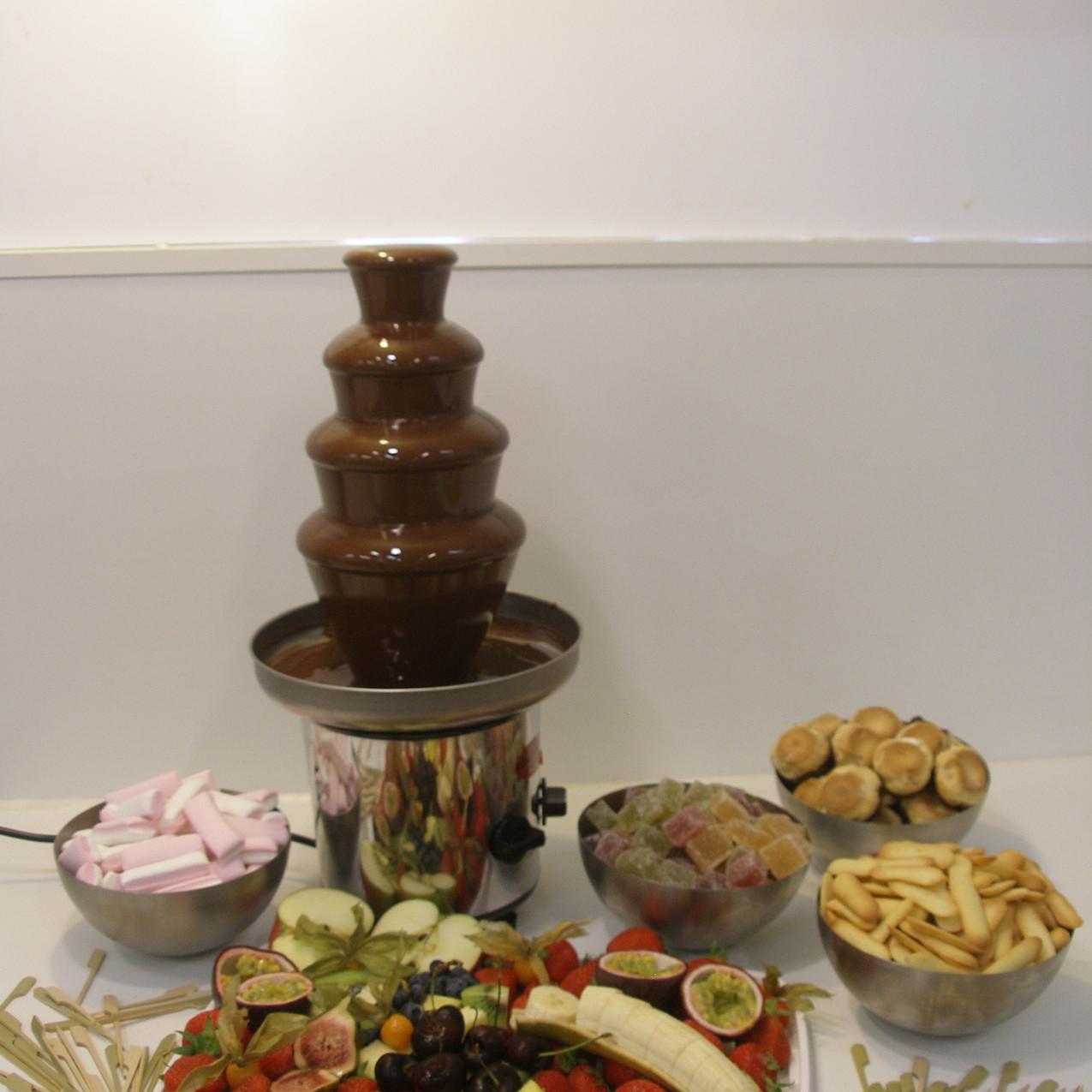 Chocoladefontein met fruit