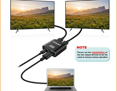 2 HDMI display monitors with one HDMI port on PC or LAPTOP