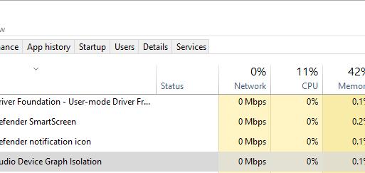 Windows Audio Device Graph Isolation.