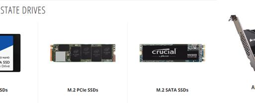 NVMe און SATA די חילק פון-SSD אפציעס פאר AIC  און 2.5 און m.2