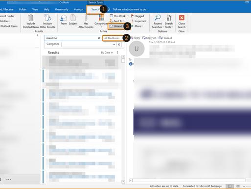 מאכן א פאלדער פאר אלע אימעלס אין OUTLOOK פאר אלע אקונטס.  Unified Inbox