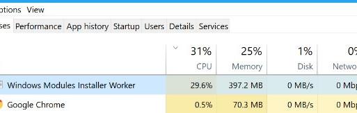 Windows Modules Installer Worker.