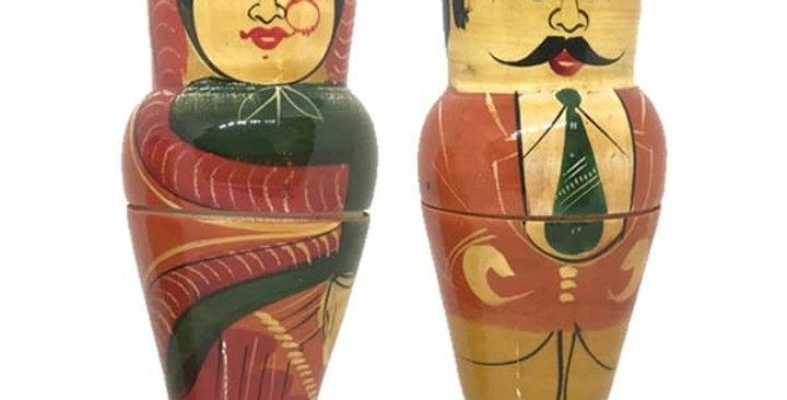 6 in 1 Dolls - Man & Woman