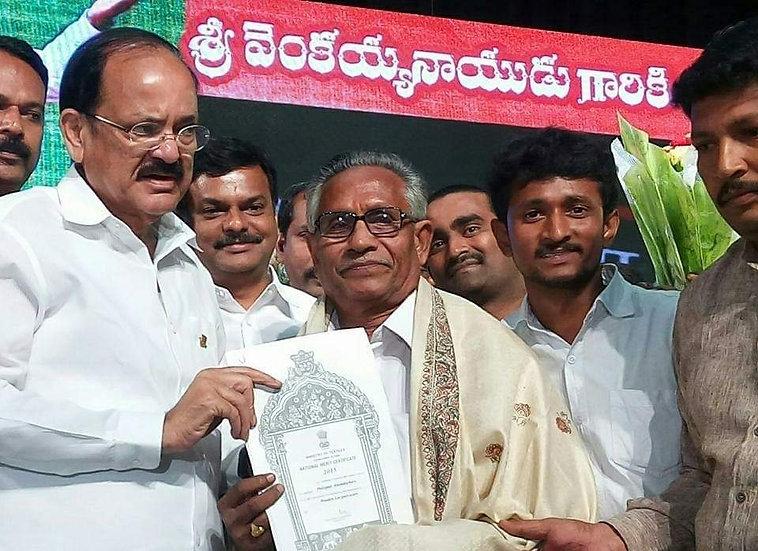 Receiving National Merit Certificate