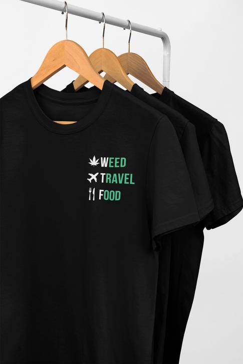 WeedTravelFood T-Shirt (Back)