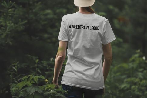 WeedTravelFood Icon Trio T-Shirt (Grey)