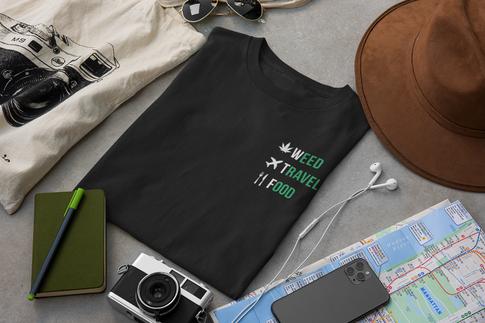 WeedTravelFood T-Shirt (Black)