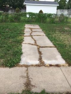 sidewalk cracks after