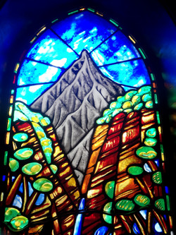 Detail of one of two Lancet windows made for the New Chapel at Kings College Auckland