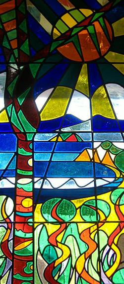 Stained glass door 1990