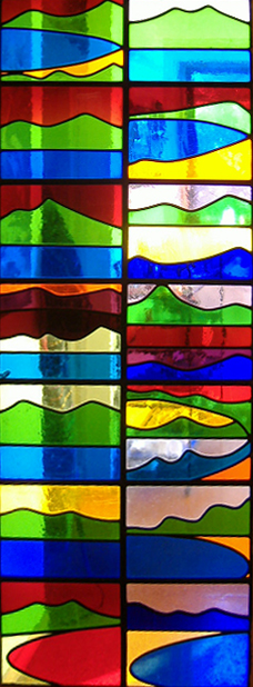 Stained glass door 1990 2