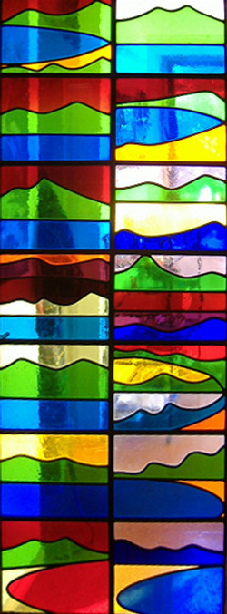 Stained glass door 1990 2