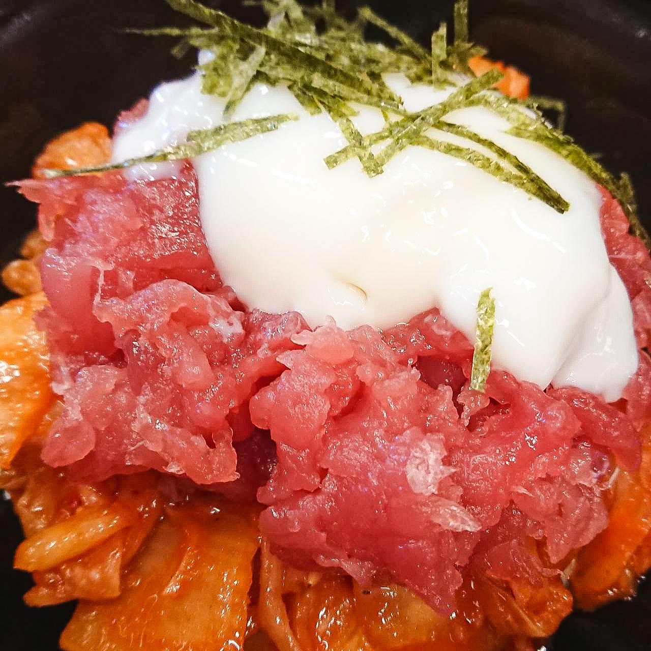 山かけ鮪キムチ丼(イベントメニュー)
