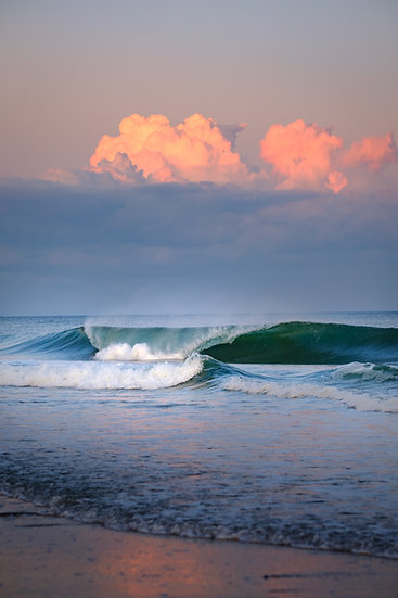 """Breaking Waves and Orange Clouds"""
