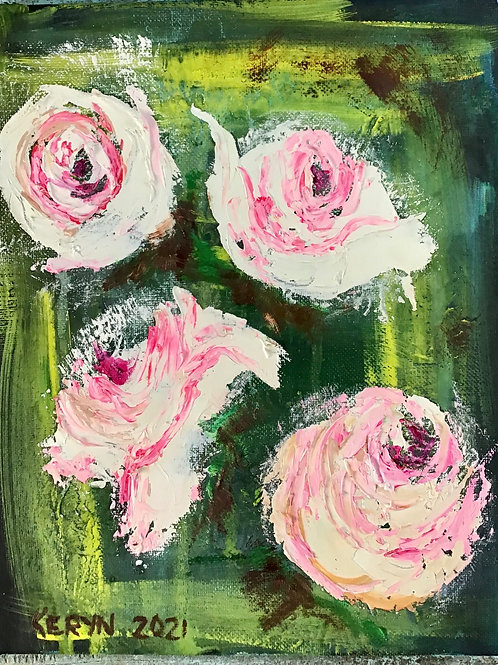 Wild Roses -Mixed Media