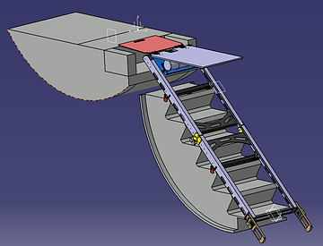 Falcon Medevac; Patient loader; medevac aircraft lift; stretcher loader