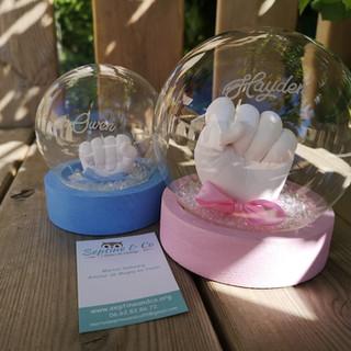 boule en verre empreinte bébé septine and co France moulage 3D