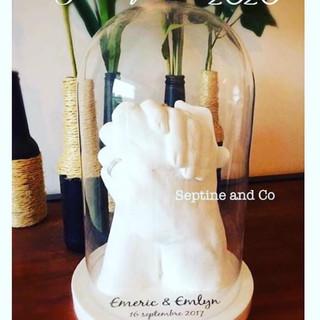 empreinte 3D mariage union couple amour  cadeau de mariage septine and co France moulage 3D