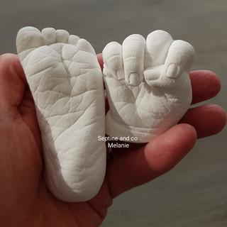 empreinte 3D bébé moulage septine and co moulage 3D france