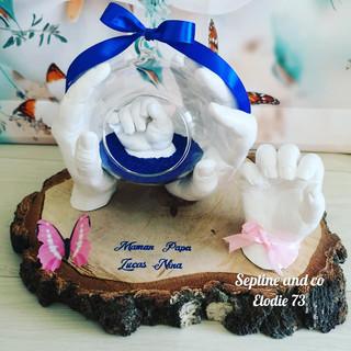 empreinte 3D famille cadeau de famille septine and co France moulage 3D