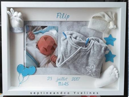 Cadre de naissance 30X40 par septine and co moulage 3D