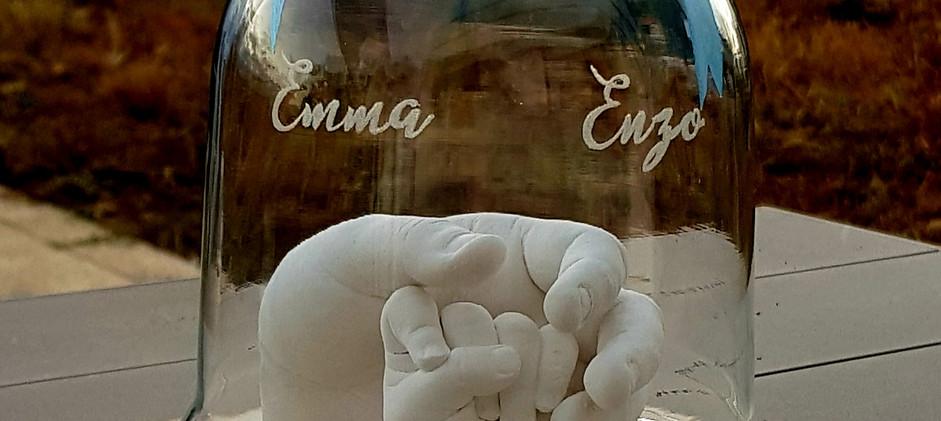 empreinte enfant empreinte bebe moulage 3d main en plâtre souvenir de naissance cadeau de naissance septine and co lyon reyrieux ain rhone alpes baby art bebe moulage hand  print hand casting souvenir de grossesse babyshower moulage ventre de grossesse ventre grossesse en plâtre