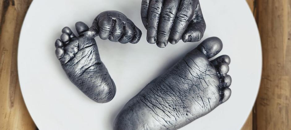 moulage enfant Yvelines septine and co main en plâtre souvenir de naissance