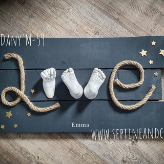 empreinte 3D baby love septine and co moulage 3d frace