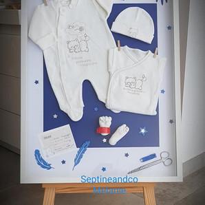 cadre de naissance empreinte bébé septine and co France