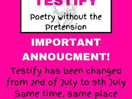 !! Testify Date Change !!