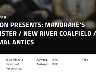 Nieuwe shows 2016