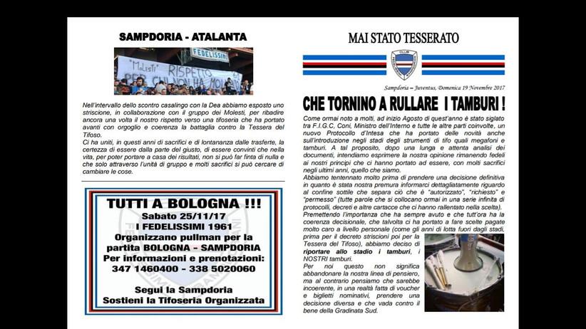 Sampdoria - Juventus 19/11/2017