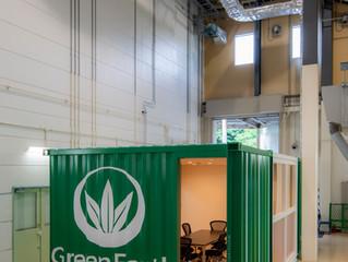 Green Earth Institute研究所内コンテナスペース