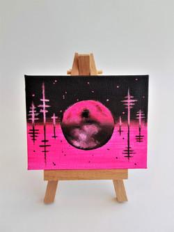 2018 Mini Canvas - Pink Moon