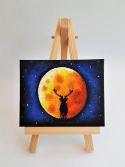 2018 Mini Canvas - Moon Stag