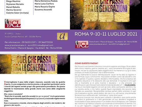 Evento: II Convegno Europeo dell'EPFCL