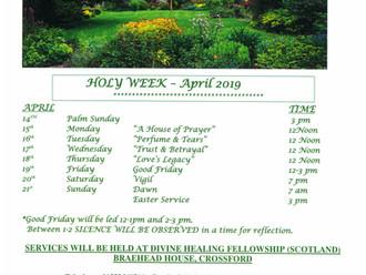 HOLY WEEK - APRIL 2019