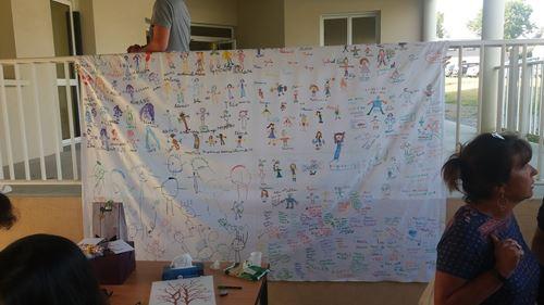 fresque offerte par les enfants...