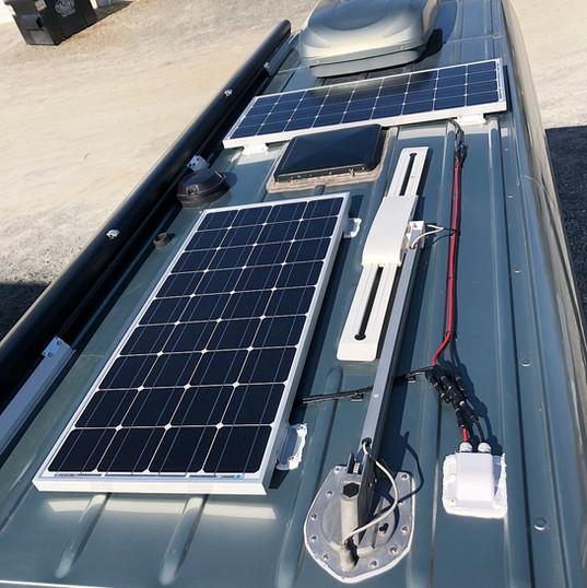 Solar array on van