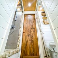 Bathrooms and custom barn door