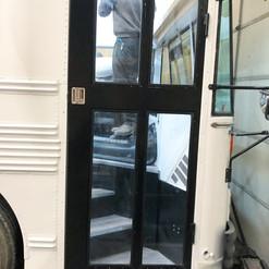 Exterior of custom entry door